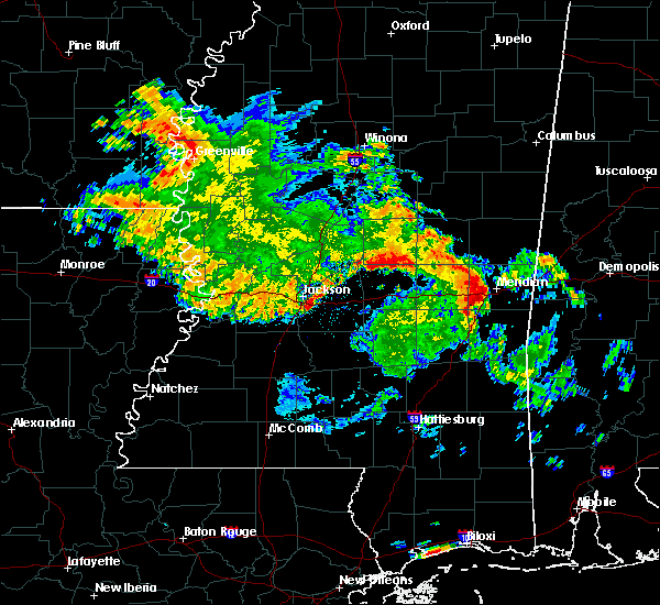 Radar Image for Severe Thunderstorms near Newton, MS at 7/5/2015 10:19 AM CDT