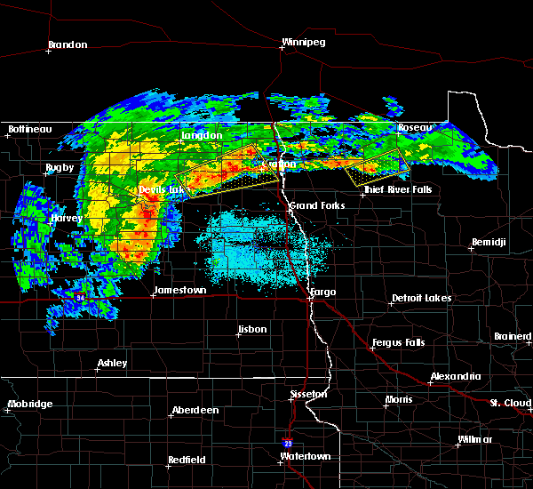 Radar Image for Severe Thunderstorms near Middle River, MN at 7/5/2015 10:23 AM CDT