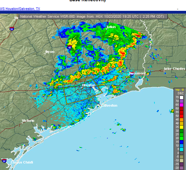 Radar Image for Severe Thunderstorms near Mission Bend, TX at 10/23/2020 2:28 PM CDT