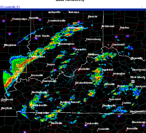 Radar Image for Severe Thunderstorms near Nicholasville, KY at 10/23/2020 3:48 PM EDT
