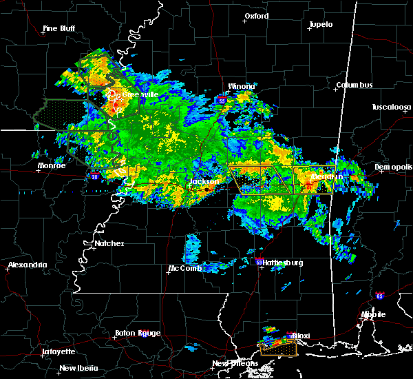 Radar Image for Severe Thunderstorms near Newton, MS at 7/5/2015 10:38 AM CDT