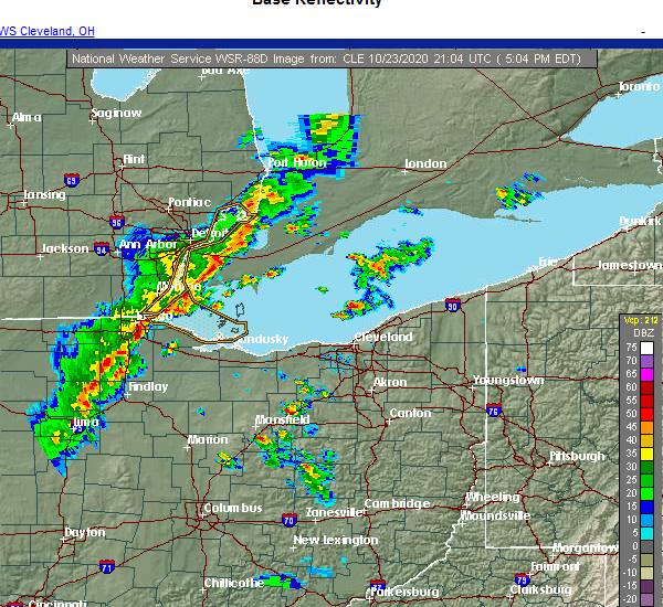 Radar Image for Severe Thunderstorms near Grand Rapids, OH at 10/23/2020 5:13 PM EDT