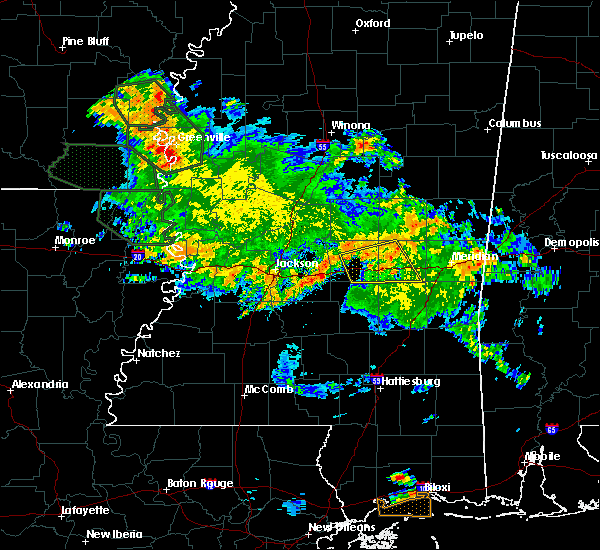 Radar Image for Severe Thunderstorms near Newton, MS at 7/5/2015 10:51 AM CDT