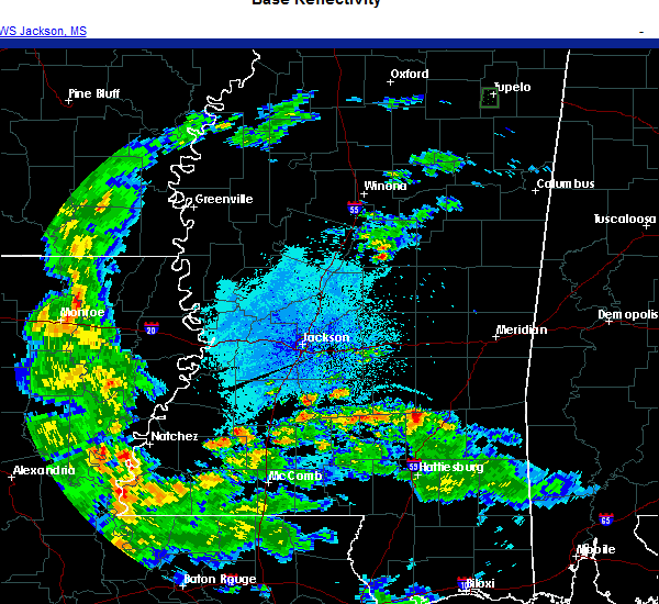 Radar Image for Severe Thunderstorms near Bay Springs, MS at 10/23/2020 7:07 PM CDT