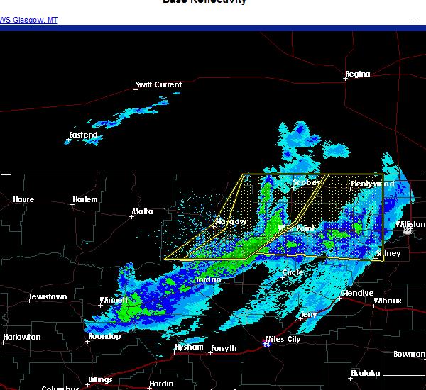 Radar Image for Severe Thunderstorms near Brockton, MT at 10/30/2020 7:59 PM MDT