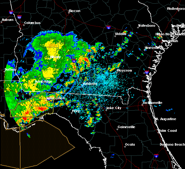Radar Image for Severe Thunderstorms near Tifton, GA at 7/5/2015 1:08 PM EDT