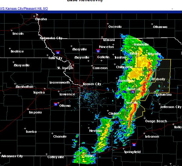Radar Image for Severe Thunderstorms near Barnett, MO at 11/10/2020 12:01 PM CST