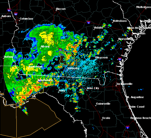 Radar Image for Severe Thunderstorms near Tifton, GA at 7/5/2015 1:23 PM EDT