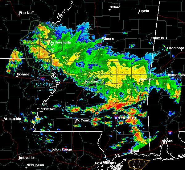 Radar Image for Severe Thunderstorms near Ellisville, MS at 7/5/2015 12:42 PM CDT