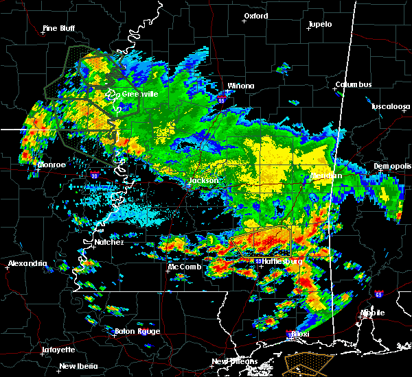 Radar Image for Severe Thunderstorms near Ellisville, MS at 7/5/2015 1:00 PM CDT