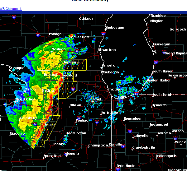 Radar Image for Severe Thunderstorms near Rockford, IL at 11/10/2020 3:44 PM CST
