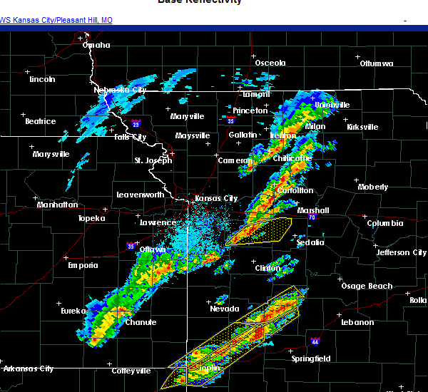 Radar Image for Severe Thunderstorms near Houstonia, MO at 11/14/2020 6:34 PM CST