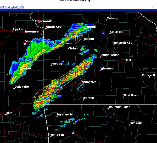 Radar Image for Severe Thunderstorms near Pleasant Hope, MO at 11/14/2020 6:37 PM CST