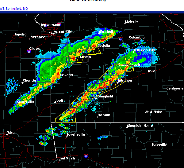 Radar Image for Severe Thunderstorms near Springfield, MO at 11/14/2020 7:26 PM CST