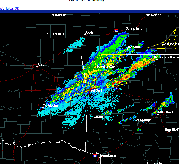 Radar Image for Severe Thunderstorms near Hindsville, AR at 11/14/2020 10:24 PM CST