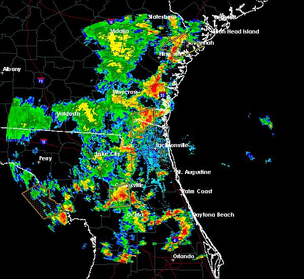 Radar Image for Severe Thunderstorms near Jacksonville, FL at 7/5/2015 4:14 PM EDT