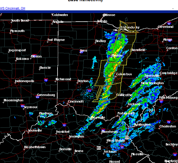 Radar Image for Severe Thunderstorms near Marble Cliff, OH at 11/15/2020 12:03 PM EST