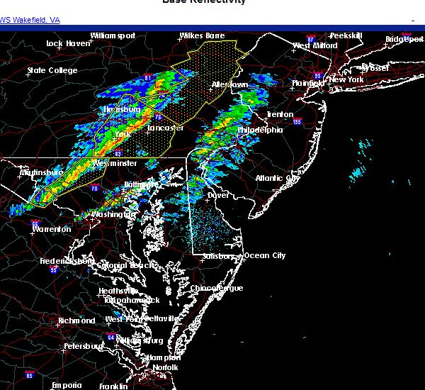 Radar Image for Severe Thunderstorms near York, PA at 11/15/2020 6:26 PM EST