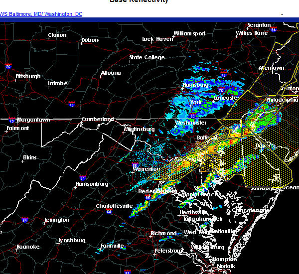 Radar Image for Severe Thunderstorms near Woodlawn, VA at 11/15/2020 7:56 PM EST