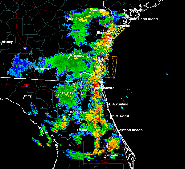 Radar Image for Severe Thunderstorms near Palm Valley, FL at 7/5/2015 4:55 PM EDT