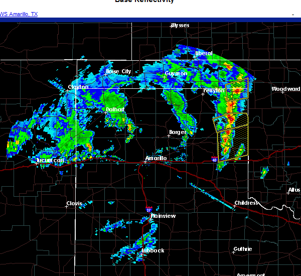 Radar Image for Severe Thunderstorms near Canadian, TX at 11/24/2020 2:17 PM CST