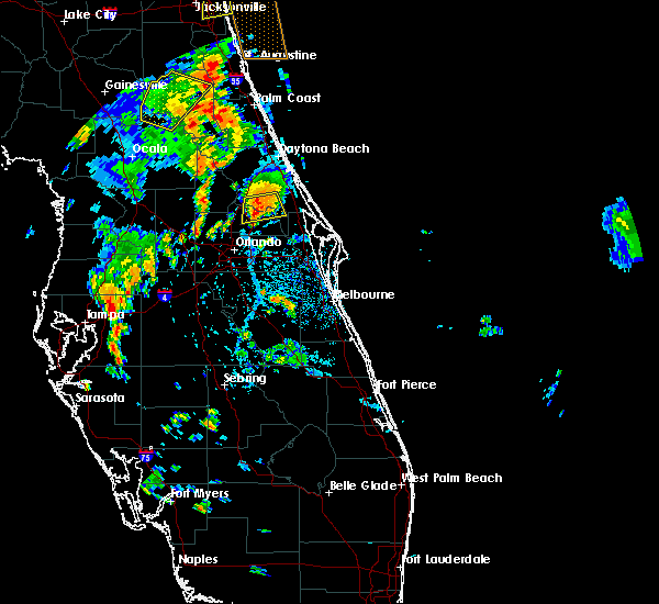Radar Image for Severe Thunderstorms near Winter Park, FL at 7/5/2015 5:00 PM EDT