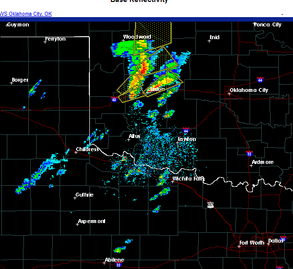 Radar Image for Severe Thunderstorms near Clinton, OK at 11/24/2020 4:01 PM CST