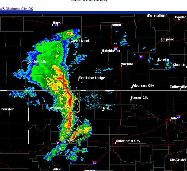 Radar Image for Severe Thunderstorms near Oakwood, OK at 11/24/2020 4:20 PM CST