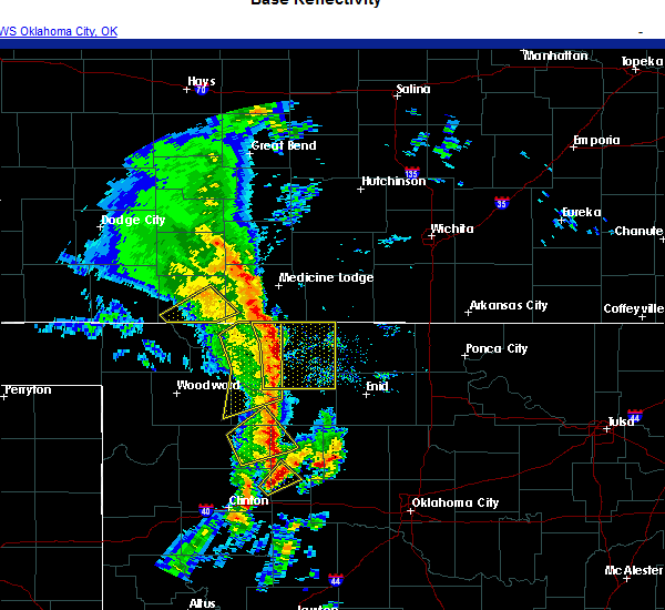 Radar Image for Severe Thunderstorms near Canton, OK at 11/24/2020 4:37 PM CST