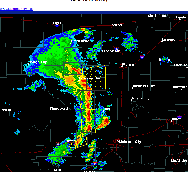 Radar Image for Severe Thunderstorms near Ames, OK at 11/24/2020 5:02 PM CST
