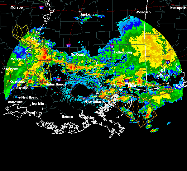 Radar Image for Severe Thunderstorms near Brusly, LA at 7/5/2015 4:04 PM CDT
