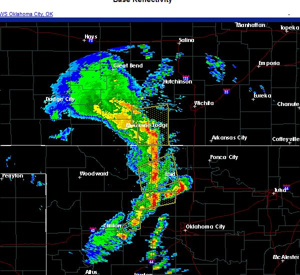 Radar Image for Severe Thunderstorms near Hennessey, OK at 11/24/2020 5:17 PM CST