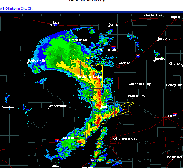 Radar Image for Severe Thunderstorms near Hennessey, OK at 11/24/2020 5:27 PM CST