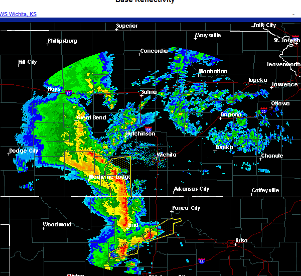 Radar Image for Severe Thunderstorms near Mayfield, KS at 11/24/2020 5:30 PM CST