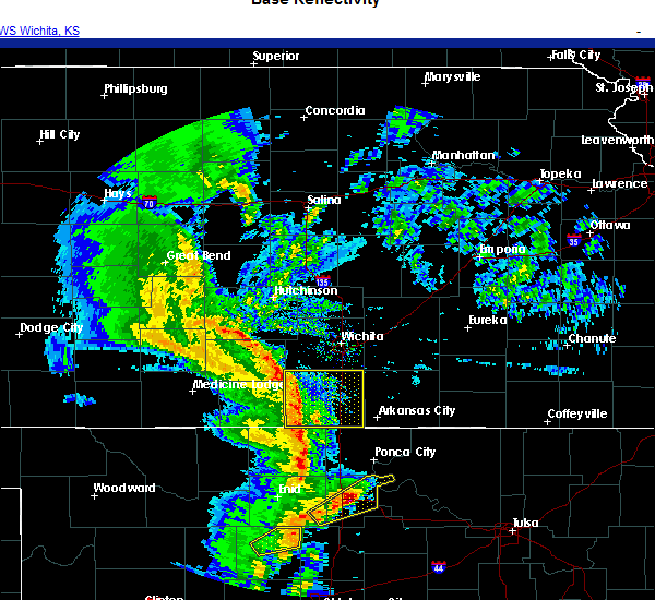 Radar Image for Severe Thunderstorms near Mayfield, KS at 11/24/2020 5:45 PM CST