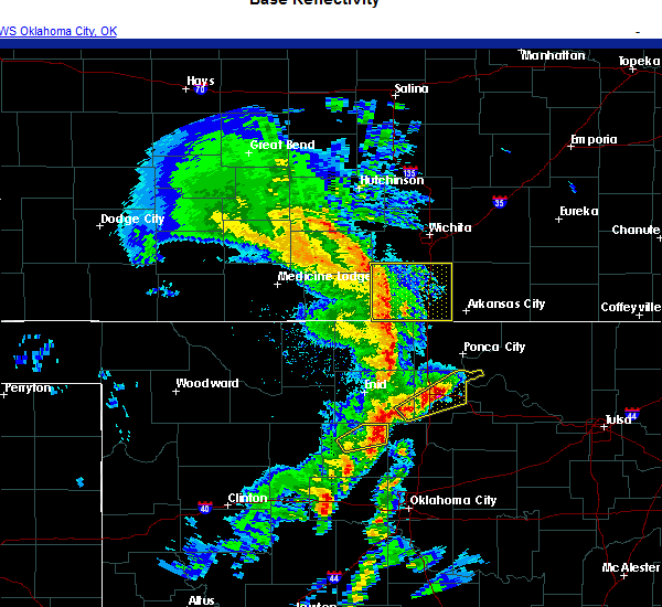 Radar Image for Severe Thunderstorms near Red Rock, OK at 11/24/2020 5:45 PM CST