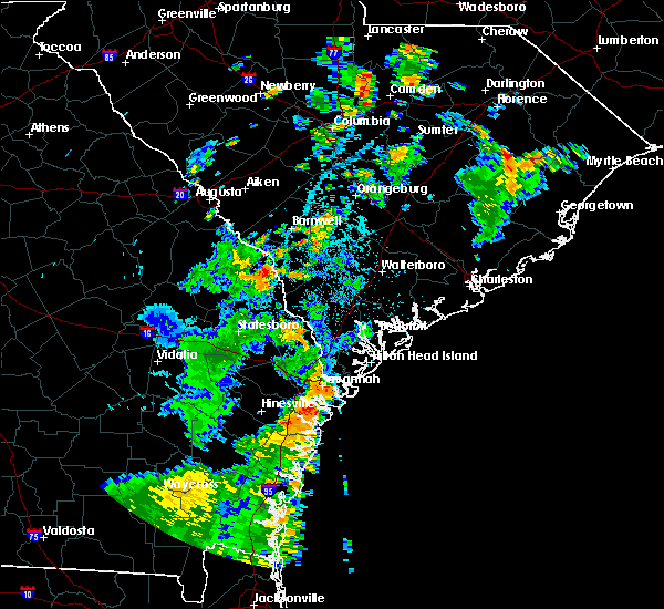Radar Image for Severe Thunderstorms near Beaufort, SC at 7/5/2015 5:03 PM EDT