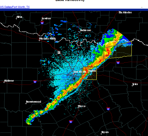 Radar Image for Severe Thunderstorms near Dallas, TX at 11/24/2020 9:21 PM CST