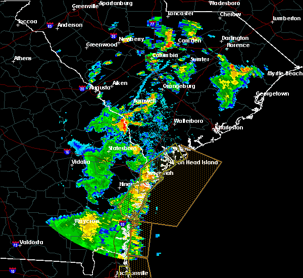 Radar Image for Severe Thunderstorms near Beaufort, SC at 7/5/2015 5:19 PM EDT