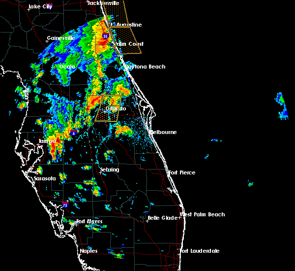 Radar Image for Severe Thunderstorms near Wekiwa Springs, FL at 7/5/2015 5:27 PM EDT