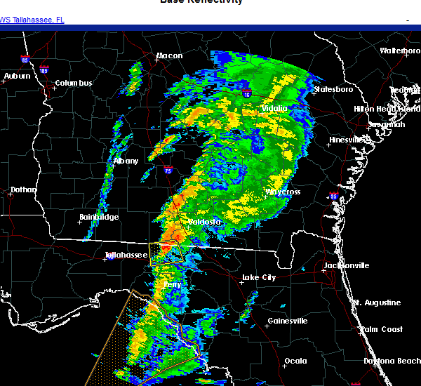 Radar Image for Severe Thunderstorms near Lake Park, GA at 11/30/2020 3:15 AM EST