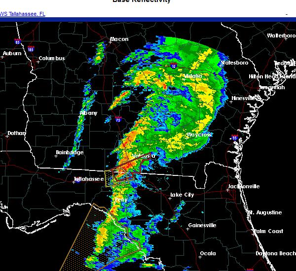 Radar Image for Severe Thunderstorms near Lake Park, GA at 11/30/2020 3:17 AM EST