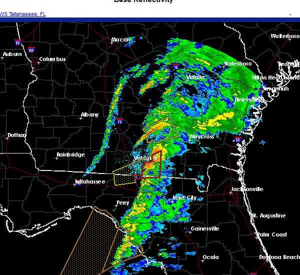 Radar Image for Severe Thunderstorms near Homerville, GA at 11/30/2020 3:58 AM EST