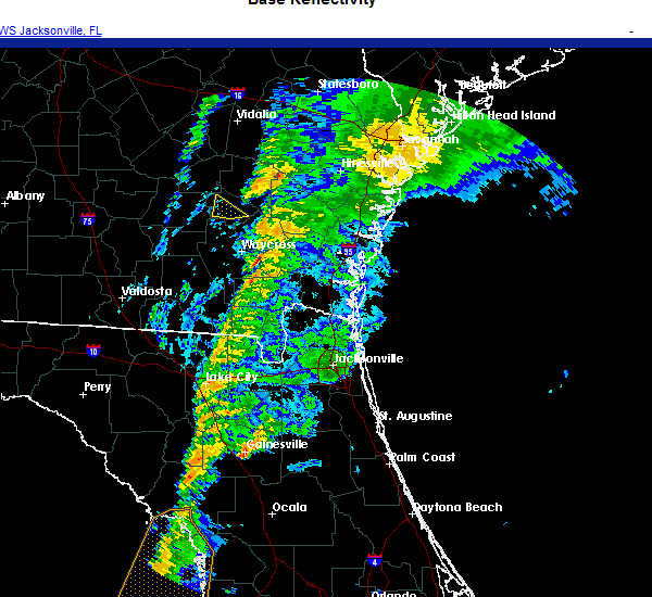 Radar Image for Severe Thunderstorms near Gainesville, FL at 11/30/2020 5:09 AM EST