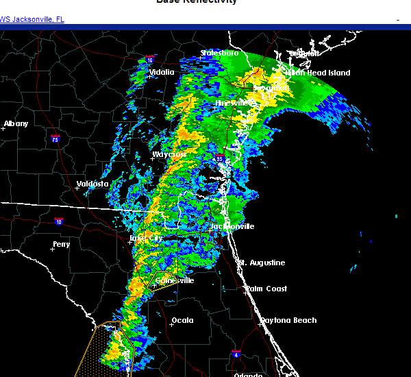 Radar Image for Severe Thunderstorms near Gainesville, FL at 11/30/2020 5:23 AM EST