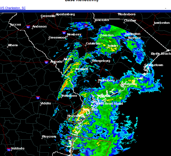 Radar Image for Severe Thunderstorms near Hardeeville, SC at 11/30/2020 6:39 AM EST