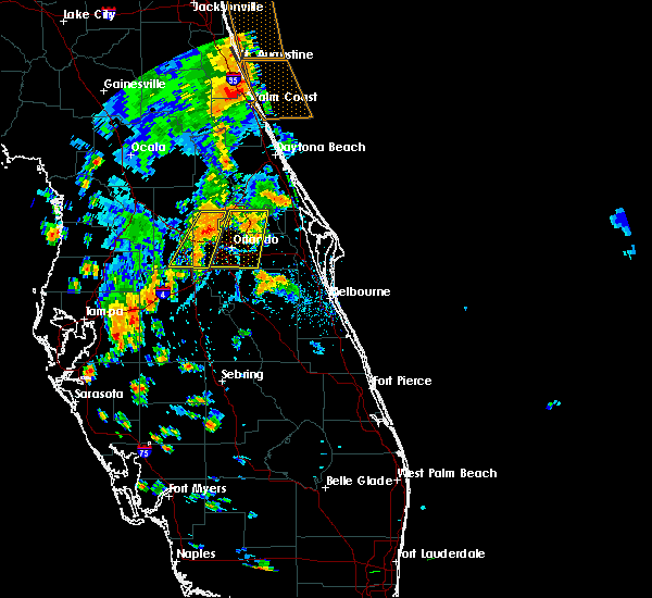 Radar Image for Severe Thunderstorms near Azalea Park, FL at 7/5/2015 5:39 PM EDT