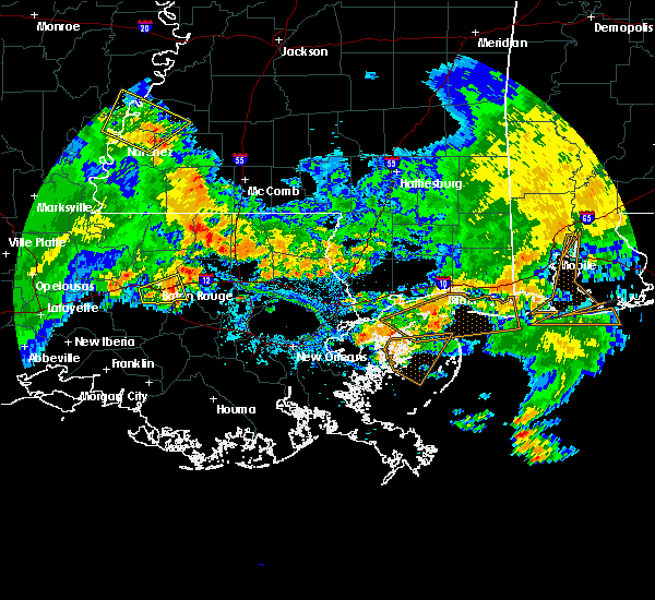 Radar Image for Severe Thunderstorms near Central, LA at 7/5/2015 4:38 PM CDT