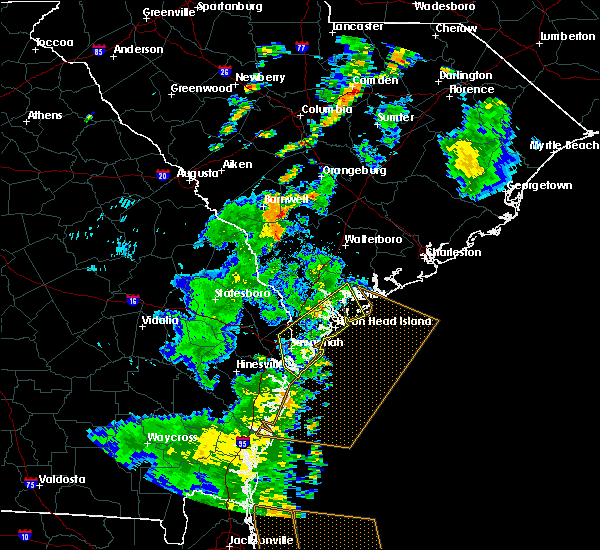 Radar Image for Severe Thunderstorms near Beaufort, SC at 7/5/2015 5:54 PM EDT