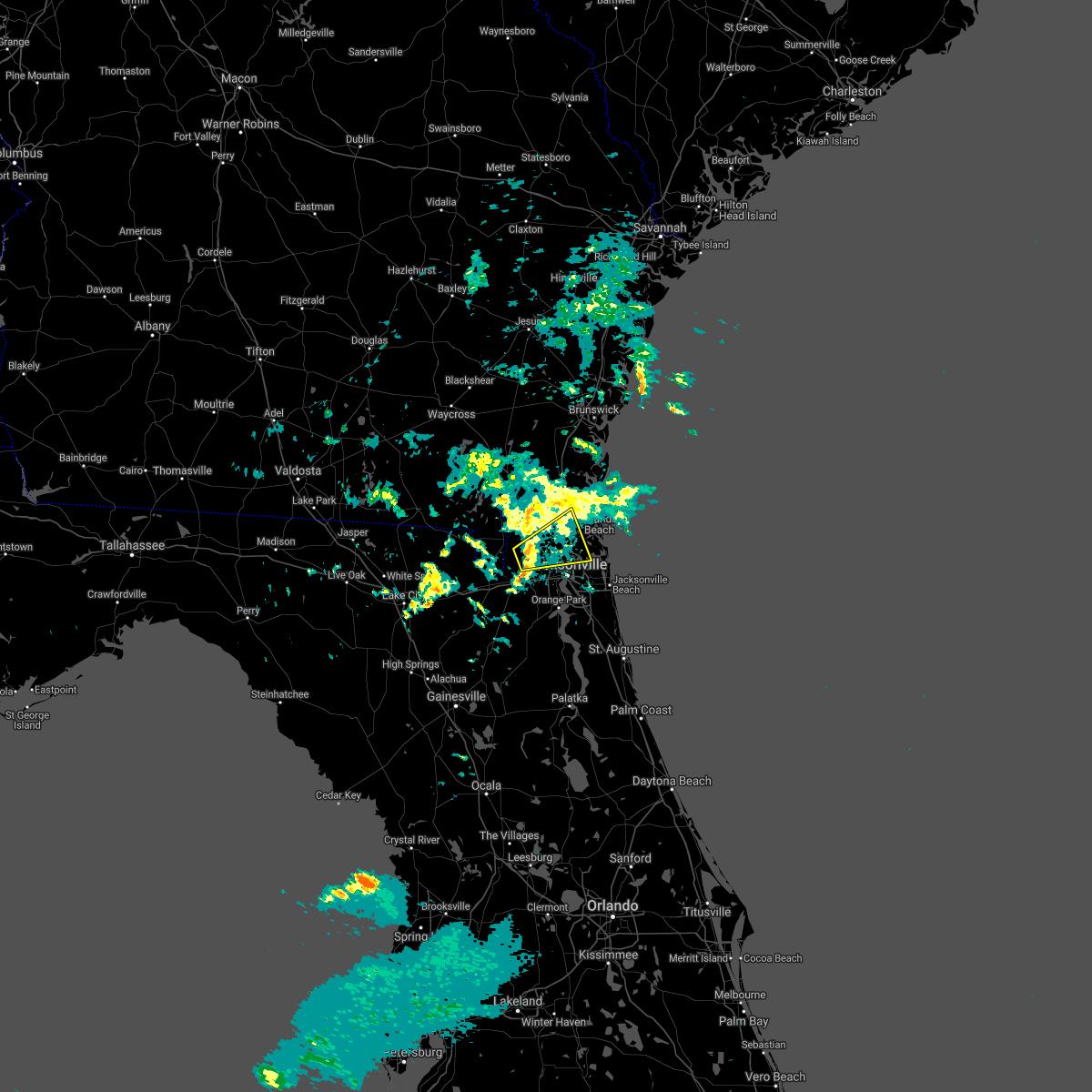 Radar Image for Severe Thunderstorms near Jacksonville, FL at 12/20/2020 4:53 PM EST